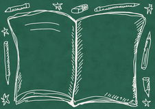 School Doodle  book background Royalty Free Stock Photo