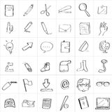 School Doodle Drawing. Doodle drawing of back to school Royalty Free Stock Photo