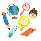 School Doodle Drawing Vector Royalty Free Stock Photo
