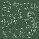 School doodle elements Stock Image