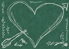 School Doodle love background Royalty Free Stock Image
