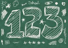 School Doodle numbers Stock Photography