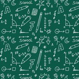 School doodle pattern Royalty Free Stock Image