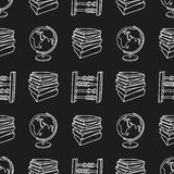 School doodle seamless pattern Royalty Free Stock Images