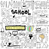 School Doodle texture isolated on white Stock Photography