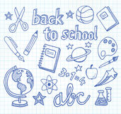 School Doodles - Back To School Royalty Free Stock Image