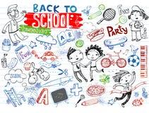 School doodles, vector set vector illustration