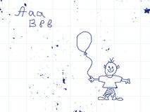 School drawing pad vector illustration