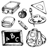 School drawings collection 1 Stock Images