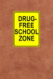 This School is Drug-Free Royalty Free Stock Photos