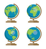 School earth globes, vector  Royalty Free Stock Photos