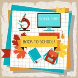 School and education background with sticky papers Royalty Free Stock Image