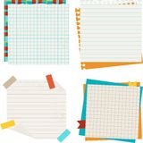 School and education background with sticky papers Stock Image