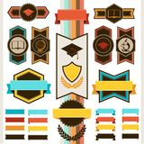 School education badges and ribbons Stock Photo