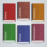 School education books icons. Stock Photography