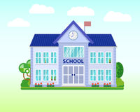 School and education. Buildings for city construction.  Royalty Free Stock Image