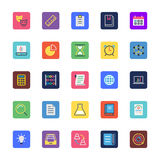 School and Education Colored Vector Icons 2. Introducing School and Education Vector Icon Pack - filled with even more and more educational icons and symbols Royalty Free Stock Photography