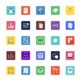 School and Education Colored Vector Icons 5 Royalty Free Stock Photo