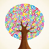School education concept tree hand Royalty Free Stock Photo