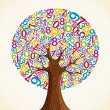 School education concept tree hand Vector Illustration