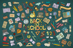 School and education doodles hand drawn vector Royalty Free Stock Photography