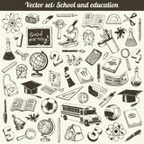 School And Education Doodles Vector stock illustration