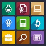 School and education flat icons set 26 Stock Image