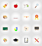 School education flat icons vector illustration Stock Photo