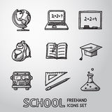 School, education freehand icons set. Vector Stock Images