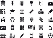 School and education glyph web icons Stock Image