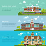 School education, high school and university study Royalty Free Stock Images