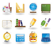 School and education icon set. School and education icons  - vector icon set Royalty Free Stock Photo