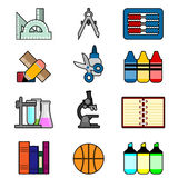 School And Education Icon Set 2 Royalty Free Stock Photos