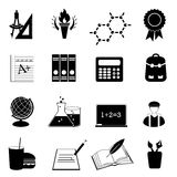 School and education icon set royalty free illustration