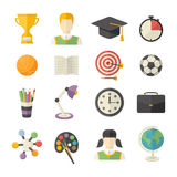 School and Education Icon set. Royalty Free Stock Images
