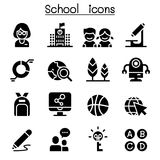 School & Education icon set. School & Education icon set vector illustration graphic design Royalty Free Stock Image
