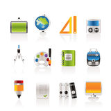 School and education icons. Icon set Royalty Free Stock Images