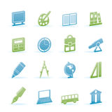 School and education icons Stock Photo