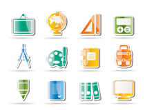 School and education icons. Icon set Royalty Free Stock Photography