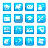 School and education icons Royalty Free Stock Photo