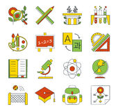 School, education icons Stock Photo