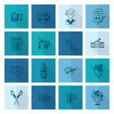 School and Education Icons Royalty Free Stock Image