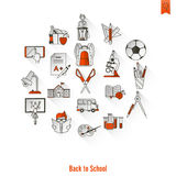 School and Education Icons Stock Photos