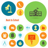 School and Education Icons Stock Photography