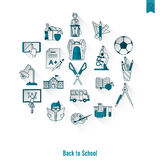 School and Education Icons Stock Image