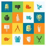 School and Education Icons Royalty Free Stock Images