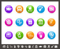 School & Education Icons // Rainbow Series. Vector icons for your web or printing projects Royalty Free Stock Images