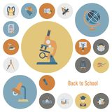 School and Education Icons. School and Education Icon Set. Flat design style. Vector Stock Photography