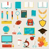 School and education icons set Stock Photo