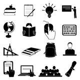 School education icons set Royalty Free Stock Images
